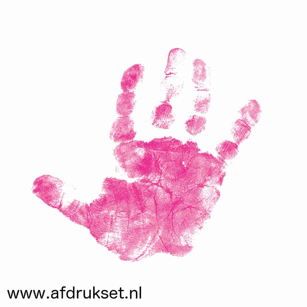 Roze Baby Handafdruk Maken Veilig En Gemakkelijk Voor U En Uw Baby
