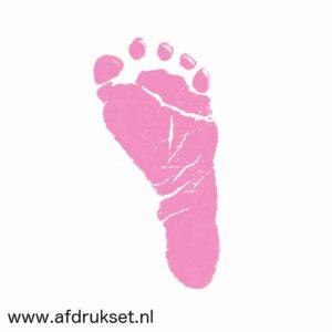 baby voetafdruk maken