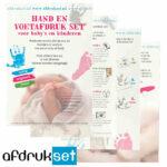 baby voetafdruk en handafdruk afdrukset