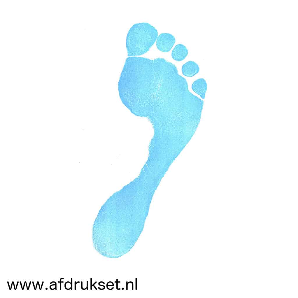 Baby Voetafdruk In De Kleur Blauw Maken Met Deze Afdrukset