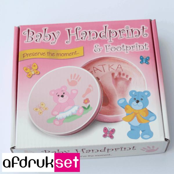 baby handafdruk in gips
