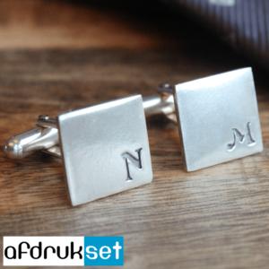 manchetknopen met initialen