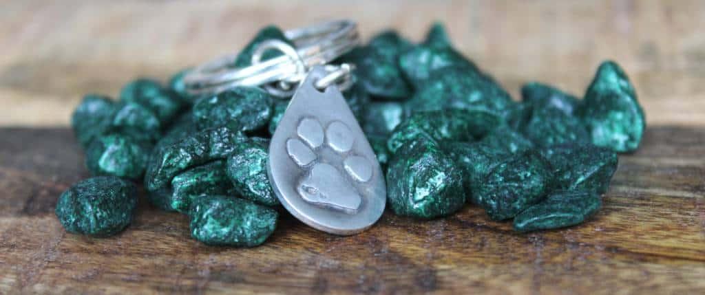 blijvende zilveren herinnering hond