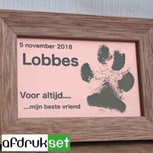 herinnering lijstje overleden hond